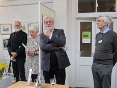 Clive Duncan Opening the exhibition