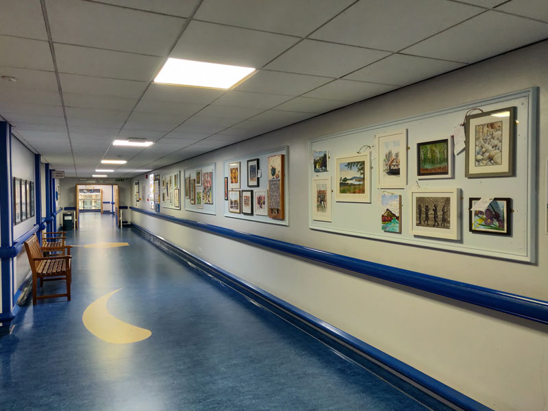Royal Berkshire Hospital Corridor Exhibition
